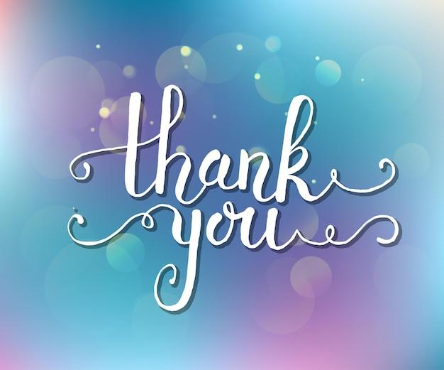 Ręcznie naszkicowane dziękuję tekst jako logotyp, odznaka i ikona. dziękuję pocztówka, karta, zaproszenie, ulotka, szablon transparentu. dziękuję napis typografia. romantyczny cytat