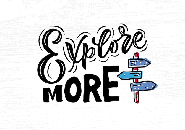Ręcznie naszkicowane poznaj więcej typografii liternictwa