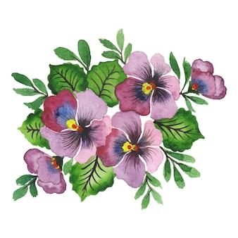 Ręcznie robiona akwarela kompozycja kwiatowa