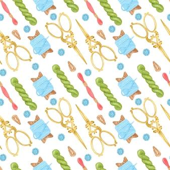Ręcznie robione hafty wzór akwarela