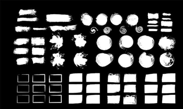 Ręcznie robione pędzle szablon projektu pędzel bryzg ilustracji wektorowych