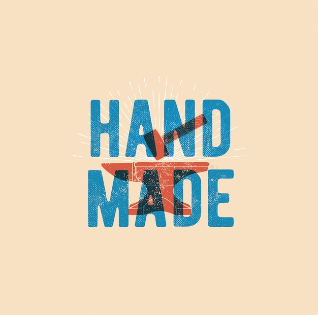 Ręcznie robione słowo w stylu hummer vintage
