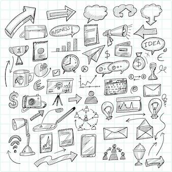 Ręcznie rysować technologię szkic doodle scenografia