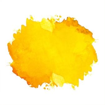 Ręcznie rysować tło akwarela rozchlapać pomarańczowy