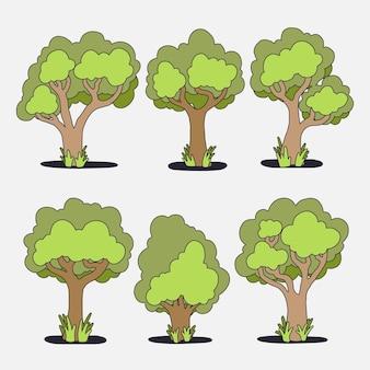 Ręcznie rysowana kolekcja drzew