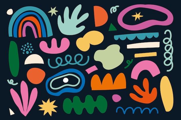 Ręcznie rysowana kolekcja kształtów
