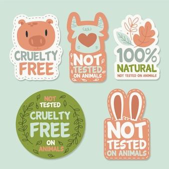 Ręcznie rysowana kolekcja odznak cruelty free