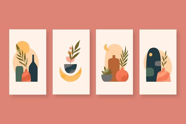 Ręcznie Rysowana Kolekcja Opowiadań Boho Na Instagramie Darmowych Wektorów