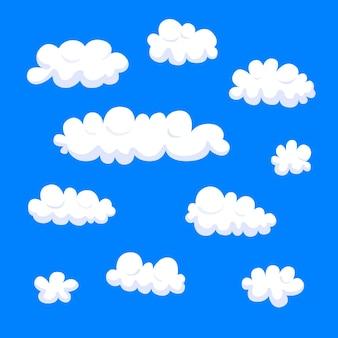 Ręcznie rysowana kolekcja w chmurze