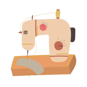Ręcznie rysowana maszyna do szycia