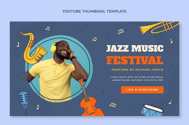 Ręcznie rysowana miniatura festiwalu muzyki kolorowej youtube