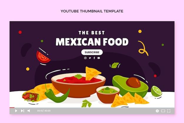 Ręcznie rysowana miniatura meksykańskiego jedzenia youtube