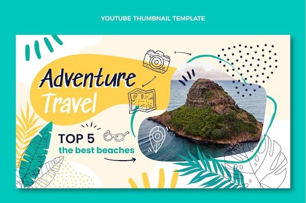Ręcznie rysowana miniatura podróży przygodowej na youtube