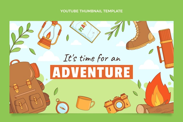 Ręcznie rysowana miniatura podróży youtube