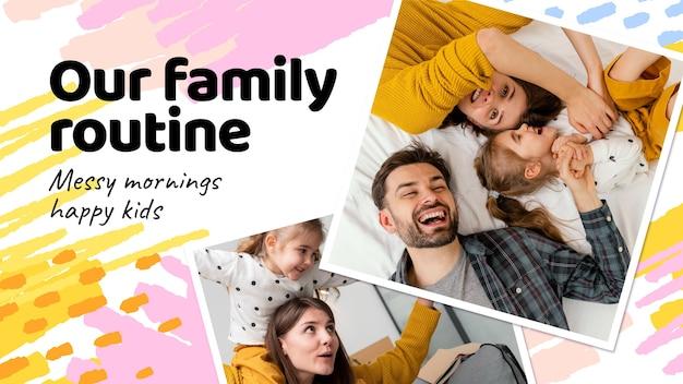 Ręcznie rysowana miniatura rodziny youtube