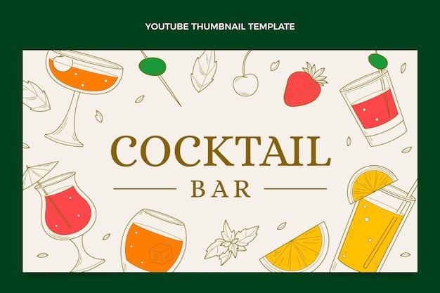 Ręcznie rysowana miniatura youtube baru koktajlowego