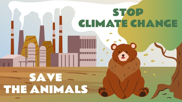 Ręcznie rysowana miniatura youtube dotycząca zmian klimatu