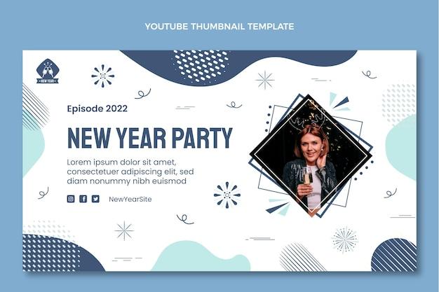 Ręcznie rysowana miniatura youtube na nowy rok