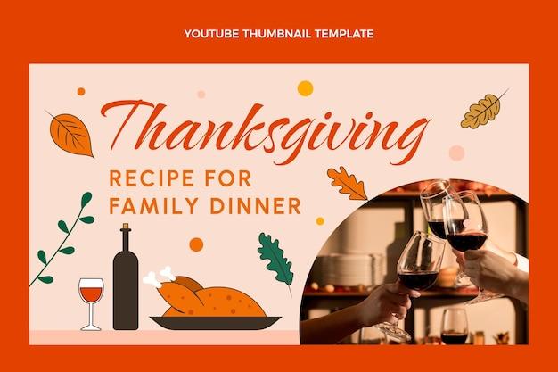 Ręcznie rysowana miniatura youtube na święto dziękczynienia