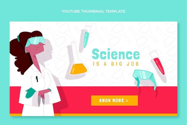 Ręcznie rysowana miniatura youtube nauka