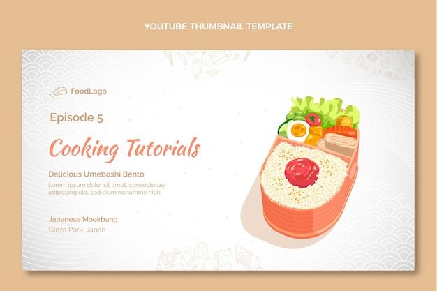 Ręcznie rysowana miniatura youtube żywności