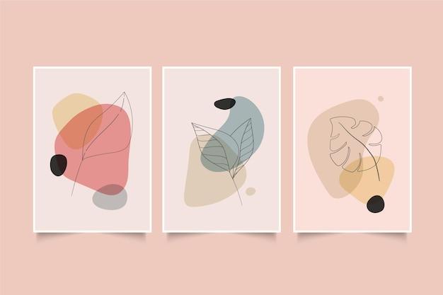 Ręcznie rysowana minimalna ręcznie rysowana kolekcja okładek