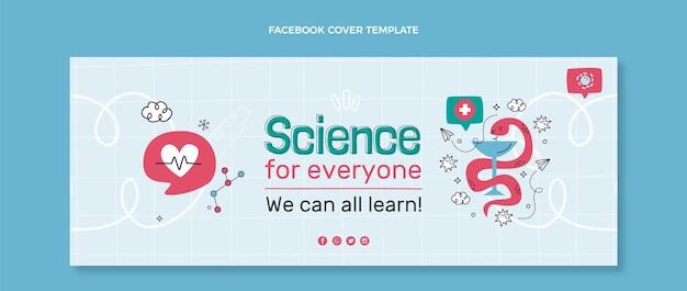 Ręcznie rysowana okładka na facebooku nauka
