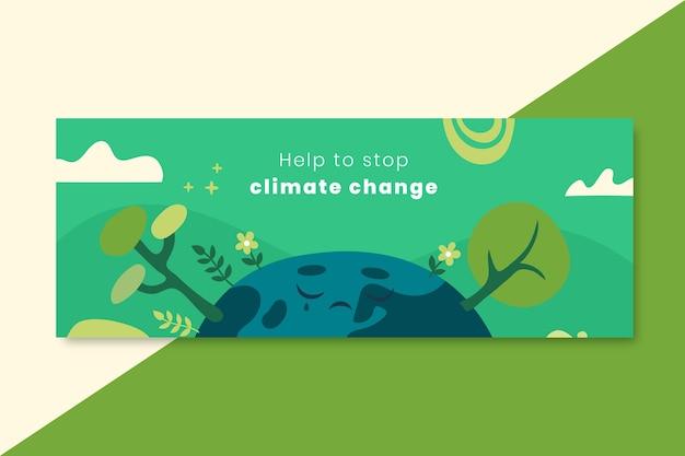 Ręcznie rysowana okładka na facebooku o zmianach klimatu