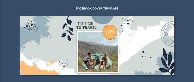 Ręcznie rysowana okładka podróżnego facebooka