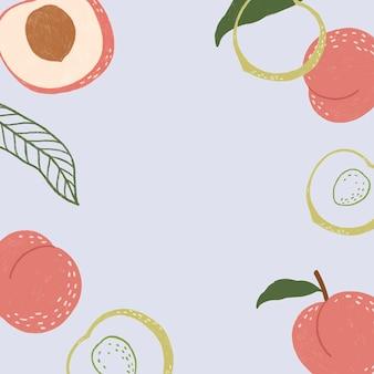 Ręcznie rysowana tapeta brzoskwiniowa