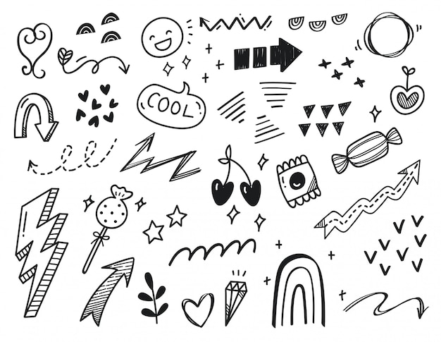 Ręcznie rysowane abstrakcyjne bazgroły
