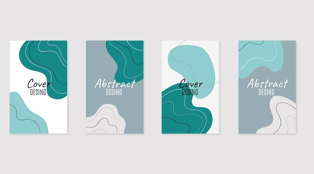 Ręcznie rysowane abstrakcyjne kształty obejmują kolekcję