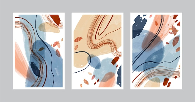 Ręcznie rysowane abstrakcyjne kształty obejmuje
