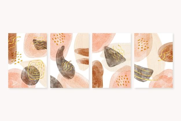 Ręcznie rysowane abstrakcyjne kształty okładki