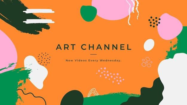 Ręcznie Rysowane Abstrakcyjne Kształty Sztuka Kanału Youtube Darmowych Wektorów
