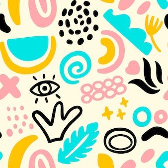 Ręcznie rysowane abstrakcyjny wzór elementu