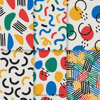 Ręcznie rysowane abstrakcyjny wzór kolekcji