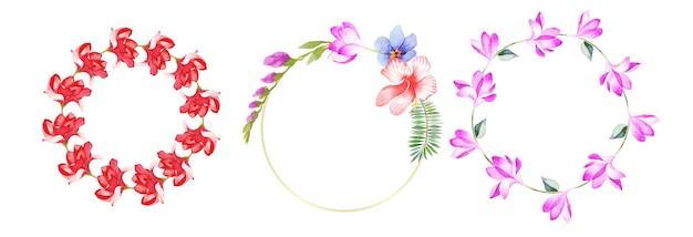 Ręcznie rysowane akwarela kwiatowy sztuki