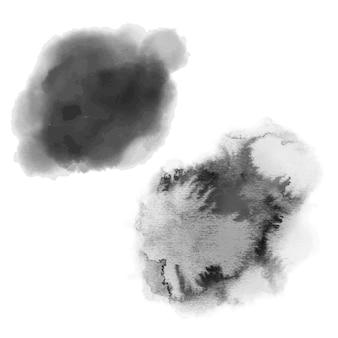 Ręcznie rysowane akwarela plamy z tekstury papieru