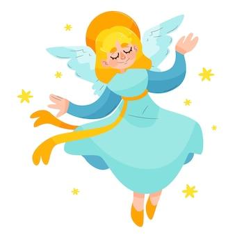 Ręcznie rysowane anioła bożego narodzenia