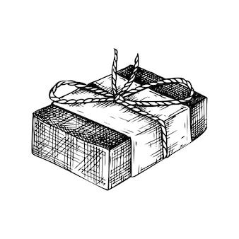 Ręcznie rysowane aromatyczne mydło ilustracja rysunek ręcznie rysowanego mydła w kostce