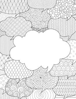 Ręcznie rysowane bąbelki mowy