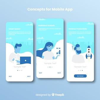 Ręcznie rysowane baner aplikacji mobilnej