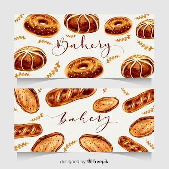 Ręcznie rysowane banery piekarni