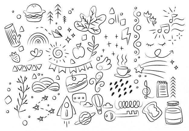Ręcznie rysowane bazgroły streszczenie bazgroły