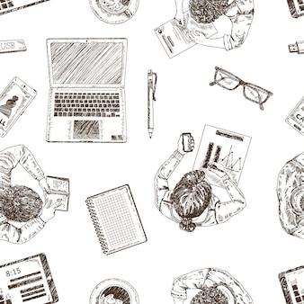 Ręcznie rysowane biznes wzór