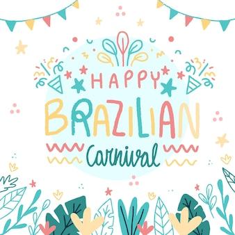 Ręcznie rysowane brazylijski karnawał
