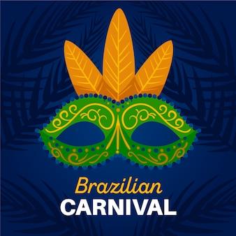 Ręcznie rysowane brazylijskie maski karnawałowe