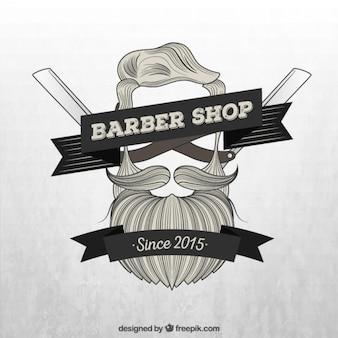 Ręcznie rysowane brodę logo