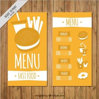 Ręcznie rysowane burger szablon menu